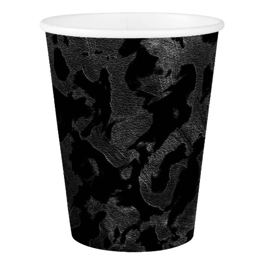 Modern Camo -Black and Dark Grey- camouflage Paper Cup