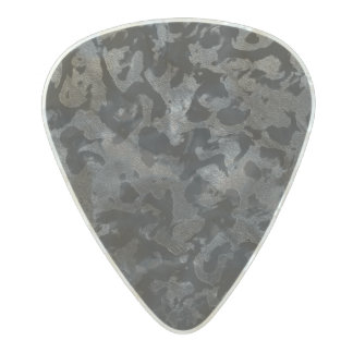 Modern Camo -Black and Dark Grey- camouflage Pearl Celluloid Guitar Pick