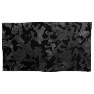 Modern Camo -Black and Dark Grey- camouflage Pillowcase
