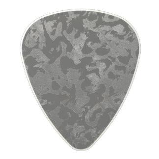 Modern Camo -Black and Dark Grey- camouflage Polycarbonate Guitar Pick