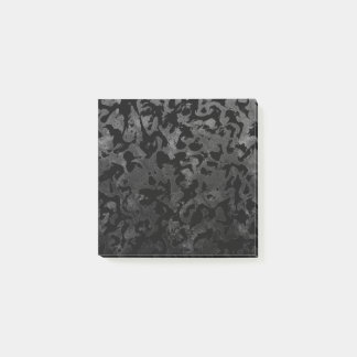 Modern Camo -Black and Dark Grey- camouflage Post-it Notes