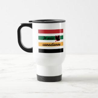 Modern Canadian Blanket (French Fem.) Stainless Travel Mug