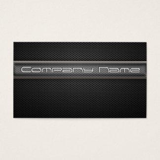 Modern Carbon Fiber Black Business Card