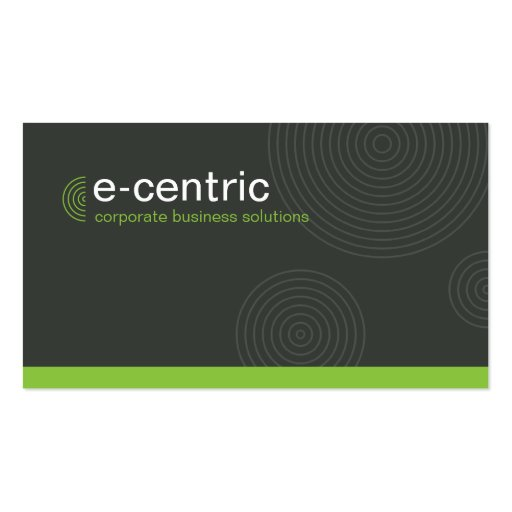 MODERN CARD trendy dynamic centric gray lime green Business Card Templates