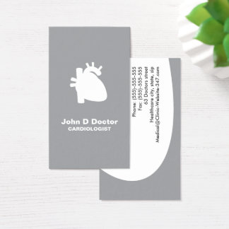 Modern cardiologist cardiology heart business card