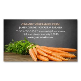 Modern Carrots/ Organic Farm Business Card Magnet