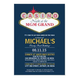 Modern Casino Dinner Party Birthday Invite