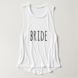 Modern Casual Bride Typography Script Tank Top