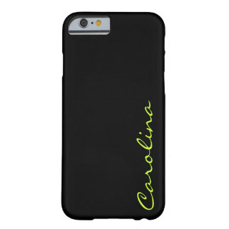 Modern Casual Monogram Personalized Barely There iPhone 6 Case