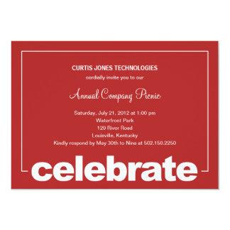 Modern Celebration Corporate/Business Party Invita Card