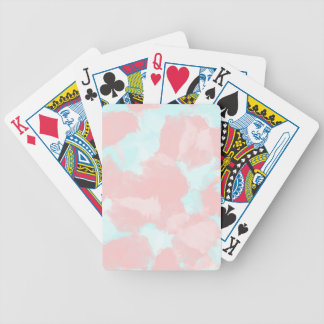 Modern cerulean and pink brush tones bicycle playing cards