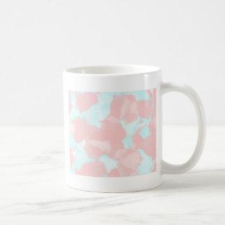 Modern cerulean and pink brush tones coffee mug