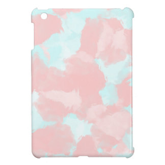 Modern cerulean and pink brush tones iPad mini cover