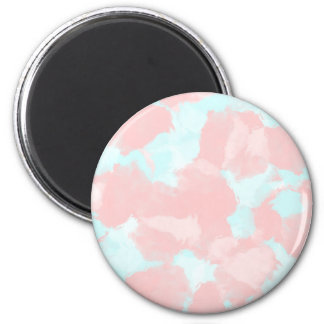 Modern cerulean and pink brush tones magnet