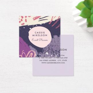Modern Chalk Art Business Cards | Purple