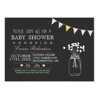 Modern Chalkboard Baby Shower invitation