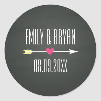 Modern Chalkboard Wedding Sticker