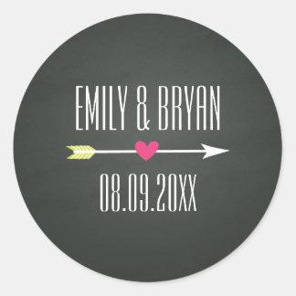 Modern Chalkboard Wedding Sticker