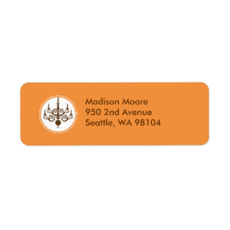 Modern Chandelier Avery Label Return Address Label