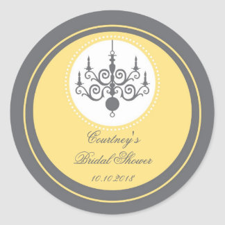 Modern Chandelier Bridal Shower Sticker