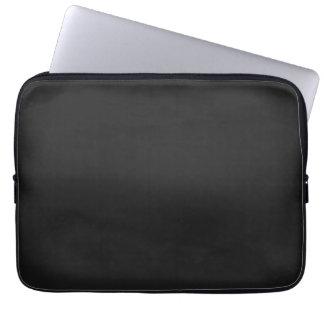 Modern Charcoal Black Customizable 13 Inch Laptop Sleeve