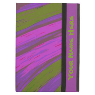Modern chartreuse purple Abstract Design iPad Air Covers