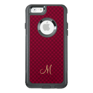 Modern Check Pattern Monogram OtterBox iPhone Case