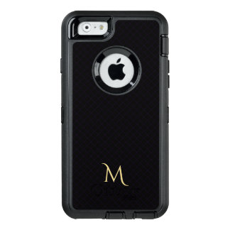 Modern Check Pattern OtterBox iPhone Monogram Case