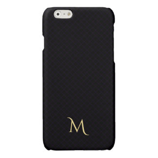 Modern Checkered Pattern Monogram iPhone Hard Case