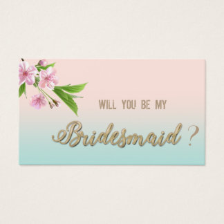 Modern Cherry Tree,Will you be my bridesmaid card