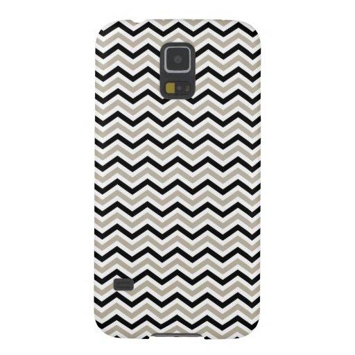 Modern Chevron Black and Sand Galaxy Nexus Cover