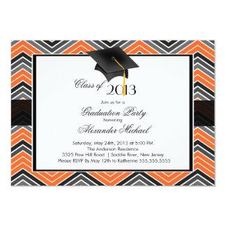 Modern Chevron GraduateTassel Graduation Party Card