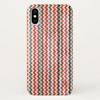 Modern Chevron Pattern Wooden iPhone X Case