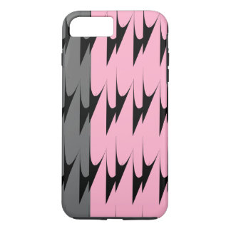 Modern Chevron Pink Grey Pattern iPhone 7 Cases