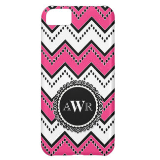 Modern Chevron Zig Zag Monogrammed  Stripe Oval iPhone 5C Cases
