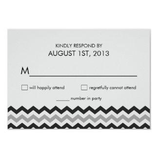 Modern Chevron Zigzag RSVP Wedding Reply Card