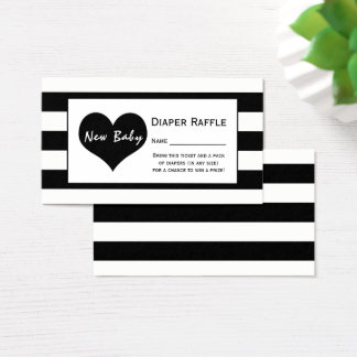 Modern Chic Baby Shower Diaper Raffle Ticket