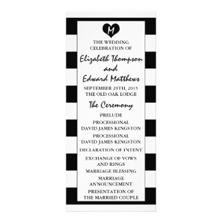 Modern Chic Black & White Wedding Program