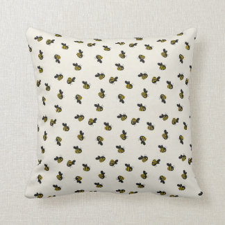 Modern Chic Bumble Bee Kid's Nursery Pattern Throw Throw Pillow