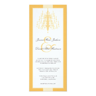 Modern Chic Chandelier Wedding Invitation
