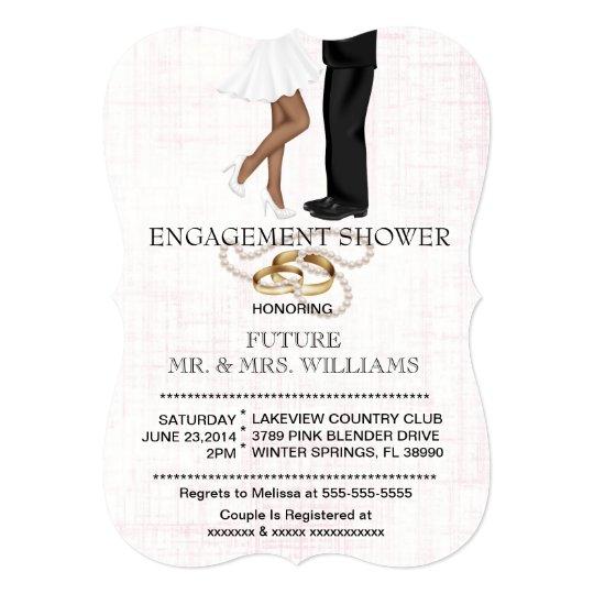 Modern Chic Couple Engagement Shower Invite