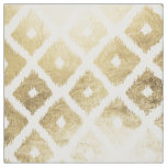 Modern chic faux gold leaf ikat pattern fabric