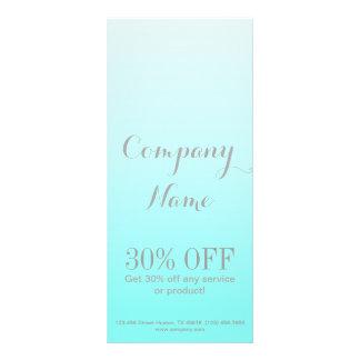 modern chic girly beauty salon fashion Turquoise Custom Rack Card
