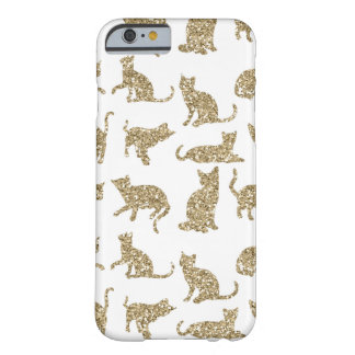 Modern & Chic Gold Sparkle Cats iPhone 6/6s Case