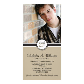 Modern Chic Graduation Announcement (taupe) Picture Card