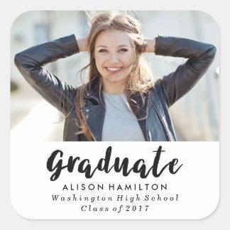 Modern Chic Graduation Photo Stickers