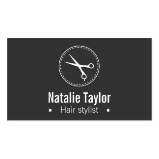 Modern, Chic, Minimalist, Black, Hair Stylist Double-Sided Standard Business Cards (Pack Of 100)
