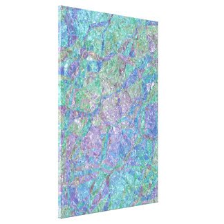 Modern Chic Pastel Colors Marble Mosaic Pattern Canvas Print