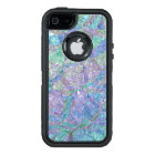 Modern Chic Pastel Colours Marble Mosaic Pattern OtterBox Defender iPhone Case