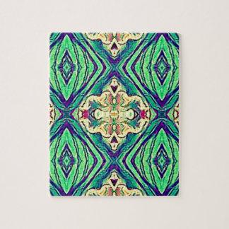 Modern Chic Pastel Pattern Jigsaw Puzzle